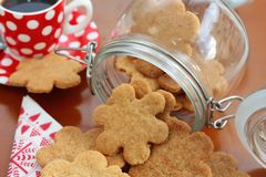 Butter cookies in a cookie jar Royalty Free Stock Photography