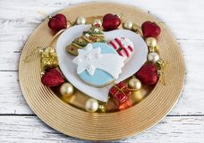 Butter cookies decorated Stock Images
