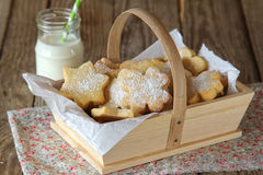 Butter cookies with icing sugar Stock Photography
