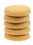 Butter cookies isolated Royalty Free Stock Images