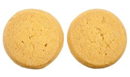 Butter cookies isolated Stock Images