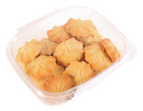 Butter cookies. Isolated Royalty Free Stock Photo