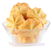 Butter cookies. Isolated Royalty Free Stock Photos