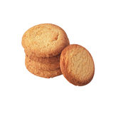 Butter cookies isolated. Stock Images