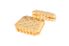 Butter cookies isolated on white background. Royalty Free Stock Photos