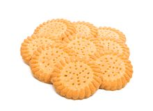 Butter cookies isolated. On white background Royalty Free Stock Photo