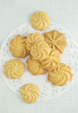 The butter cookies Stock Photo