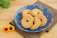 Butter cookies on plate Royalty Free Stock Photo