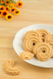 Butter cookies on plate Royalty Free Stock Image