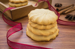 Butter cookies on table Royalty Free Stock Photo