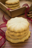 Butter cookies on table Royalty Free Stock Photography