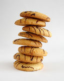 Butter cookies tower Stock Photo