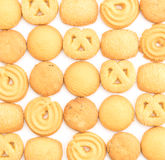 Butter cookies. On white background Royalty Free Stock Photos