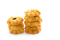 Butter cookies on white background Royalty Free Stock Photo