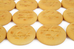 Butter cookies on white background Stock Photo