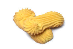 Butter cookies on white Royalty Free Stock Photos