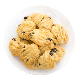 Butter cookies on white isolate background. Stock Photo