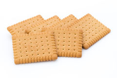 Butter cracker, cookie. Royalty Free Stock Photo