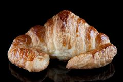 Butter croissant isolated Royalty Free Stock Photos