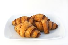 Butter croissant on a plate Royalty Free Stock Image