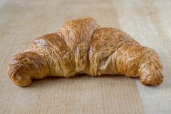 A butter croissant royalty free stock photos