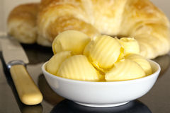 Butter and Croissants Stock Photography
