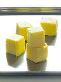 Butter cubes royalty free stock photos