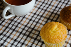 Butter Cup Cake for Tea Break. Butter cup cake is easy dessert for the tea break Royalty Free Stock Photo