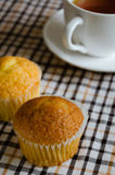 Butter Cup Cake for Tea Break. Butter cup cake is easy dessert for the tea break Stock Photos