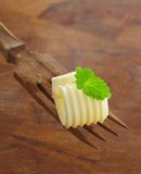 Butter curl garnished with mint Stock Photography