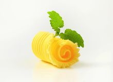 Butter curl Royalty Free Stock Photo