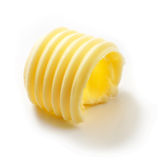 Butter curl on white background. Butter curl isolated on white background Royalty Free Stock Images