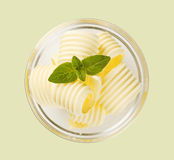 Butter curls in a glass bowl royalty free stock photos
