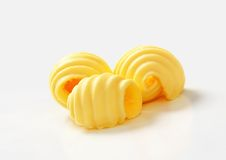 Butter curls Stock Photos