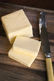 Butter on Cutting Board Royalty Free Stock Photography