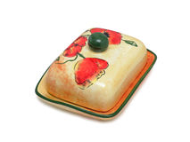 Butter Dish, isolated Stock Photography