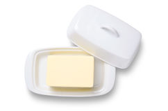Butter in dish Stock Photos