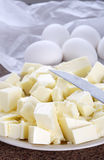 Butter and eggs Royalty Free Stock Images