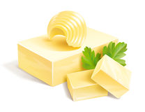 Butter illustration Royalty Free Stock Images