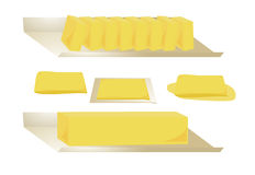 Butter isolated Stock Images