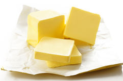 Butter isolated on white background Royalty Free Stock Images