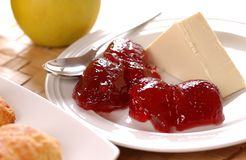 Butter and jam Royalty Free Stock Image