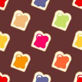 Butter with jam. Seamless vector pattern Royalty Free Stock Photography