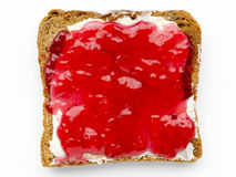 Butter and jam toast Stock Image