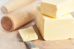Butter and kitchen utensil Royalty Free Stock Photo