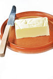 Butter and knife Stock Photo