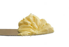Butter on a knife Stock Photos