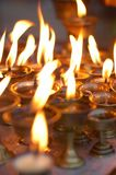 Butter Lamps Stock Photography