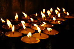 Butter lamps Kathmandu Royalty Free Stock Photography