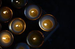 Butter lamps. At a monastery Stock Photos